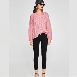 Zara Black Mid Rise Skinny Soft Peach Touch Jeans